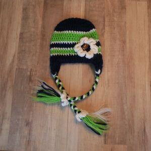 Unknown Accessories Crochet Seahawks Baby Girl Hat Poshmark